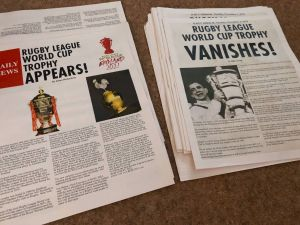Rugby league world cup headline